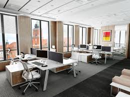 Open space office design ideas Desk Modern Office Open Space Interior Related Homegramco Modern Office Open Space Interior Homegramco
