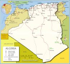 political map of algeria  nations online project