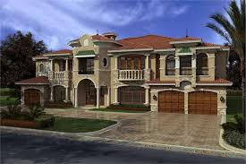 Wonderful #107 1031 · This Image Shows The Front Elevation Of These Luxury House  Plans.