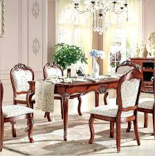 italian dining room chairs antique style dining table solid wood style luxury marble dining table set