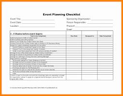 8 Event Planning Checklist Spreadsheet Business