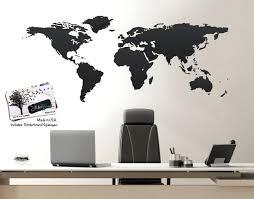 wall world map vinyl wall art world map of earth wall size world map decal