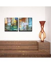 ready2hangart blue abstract study 2 piece gallery wrapped canvas wall art set on 2 pc canvas wall art with summer savings are upon us get this deal on ready2hangart blue