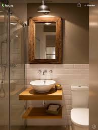 bathroom lighting houzz. Houzz Bathroom Lighting Awesome Half White Tiles With Contrast Brown Wall And
