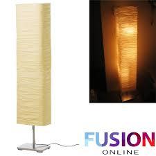 ikea floor lamp rice paper shade soft mood light stylish brand new uk magnarp