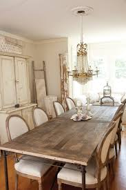 Vintage Cottage Chic Dining Room With Country French Dining Chairs - Country dining rooms