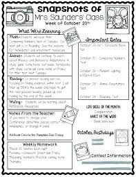 Classroom Newsletter Template Free Parent Parents Templates