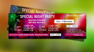 How To Design A Ticket For An Event How to Design Event Ticket Template Photoshop Tutorial YouTube 1