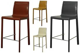 gervin recycled leather counter stool item 448526r