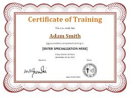 free training completion certificate templates certificate of training template 6 free training certificate