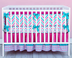 turquoise and hot pink baby bedding