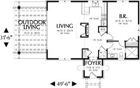 Mediterranean Guest Home Plan or Vacation Retreat   AM   st    Floor Plan