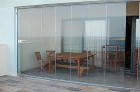 frameless folding glass door