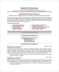 Electrician Apprentice Resume Samples Sample Electrician Resume 9 Examples In Word Pdf