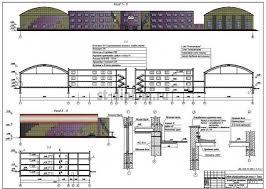 Дипломный проект ПГС средняя общеобразовательная школа 1 Фасады Разрез 1 1