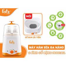 BH 12 tháng) Máy hâm sữa và tiệt trùng Fatz Baby 2 bình cổ rộng FB3012SL  thế hệ mới