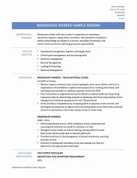 Resume Examples Warehouse Jobs Resume Sample Resumes For Warehouse