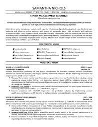 Cover Letter Sample Senior Management Resume Sample Resume Senior