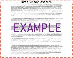 career essay research custom paper service career essay research choosing a career is one of the most important decisions a person