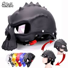 skull bone motorcycle helmet scary death human head motorbike