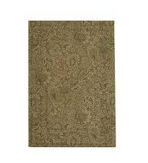 low profile microfiber rectangle rug 34 x 68 moss paisley