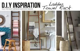 Photo 7 of 9 Ladders Make Awesome Towel Racks . (nice Wooden Ladder Towel  Rack #7)