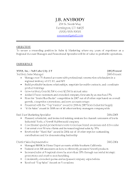 Cover Letter : Resume Objectives Examples For Sales With Experience