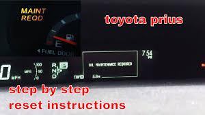 2006 Prius Maintenance Light Reset 2010 2015 Toyota Prius Oil Maintenance Required Light Reset