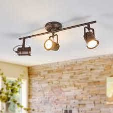 Rustikale Led Deckenlampe Cansu In Braun Kaufen Lampenweltde