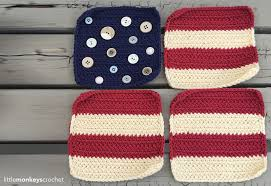 American Flag Crochet Pattern Adorable Americana Pillow 48