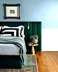 emerald green bedroom bedhead master feature wall paint emeral