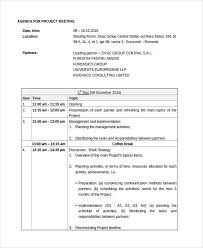Work Meeting Agenda Free 7 Project Agenda Examples Amp Samples In Pdf Doc