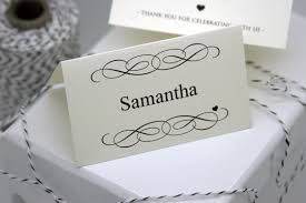 Template For Place Cards Free Free Diy Printable Place Card Template And Tutorial Polka Dot Bride