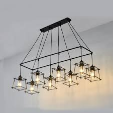 8 lights rectangle pendant light with