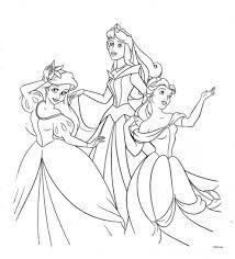 Belle Con Le Principesse Disegni Da Colorare Gratis Disegni Da