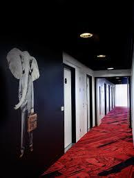 hotel hallway lighting ideas. interior hallway with black wall and red flooring awesome citizenm glasgow hotel like wonderland lighting ideas