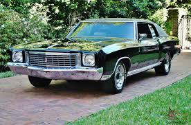 1972 Chevrolet Monte Carlo 454 SS triple black 45ks loaded real sweet