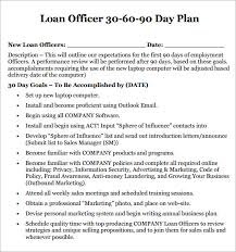 Loan Officer Marketing Plan Template Sample 30 60 90 Day Plan ...