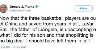 Image result for trump 'leave them jail tweet'