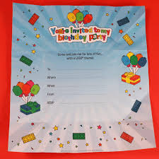 Make Birthday Party Invitations Make Your Own Lego Birthday Party Invitation That Transforms Into