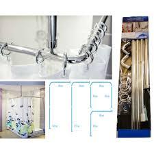 shower curtain rail rod 4 way use l or u shape ceiling