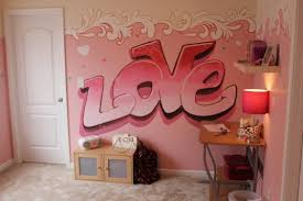 love e with pink color bedroom wall