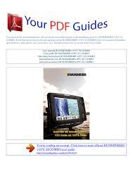 Operating Instructions Humminbird 1197c Si Combo Manualzz Com