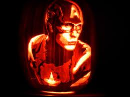 Captain America Pumpkin Designs Picture Postcard The Jack O Lantern Avengers Mr Blogs