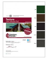 Central States Metal Color Chart Roofing And Siding Stoneburner