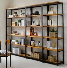 Vintage Wrought Iron separators do the old wood bookcase Ikea shelving  creative custom display shelves