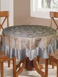 6 seater round table cloth with polyester border 14735523 standard image 1