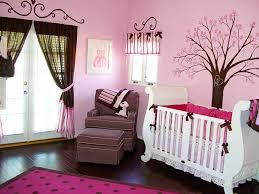 Pink Colored Cute Baby Girl Nursery Ideas Flowers Tree Paintings Amazing  Woof Flooring Supreme Materials