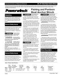 Pontoon Boat Anchor Windlass Owners Manual Manualzz Com