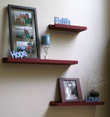 Decorations:Modern Rectangle Shelves With Blue Paint Color Idea On White  Wall Paint Creative Antique